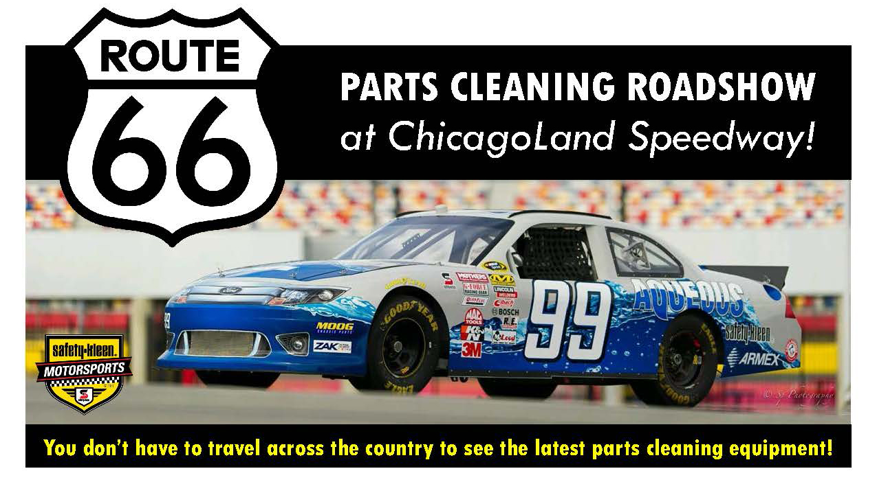 Parts cleaning roadshow chicagoland speedway safety-kleen armakleen armex clean harbors parts cleaning equipment aqueous cleaners